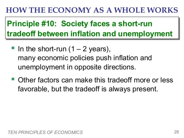 HOW THE ECONOMY AS A WHOLE WORKS Principle #10: Society faces a short-run Principle #10: Society faces a short-run tradeof...