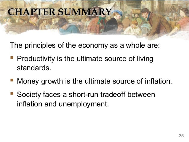 CHAPTER SUMMARY The principles of the economy as a whole are:   Productivity is the ultimate source of living standards. ...