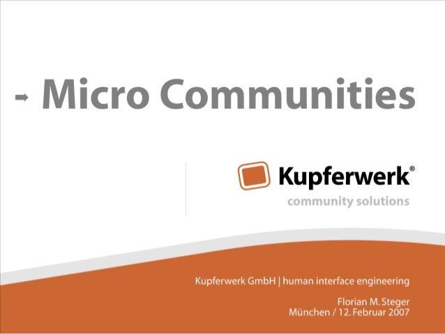 Micro Communities