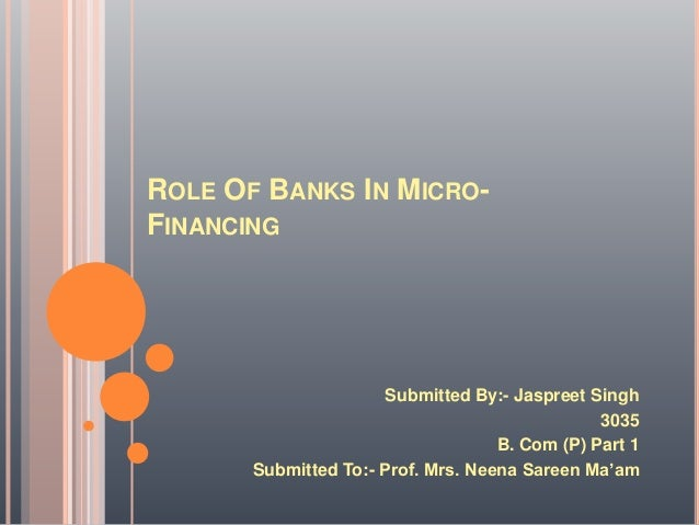 the role of microfinance banks in The role of microfinance banks in the rural development, co-operative economics project topics and materials.