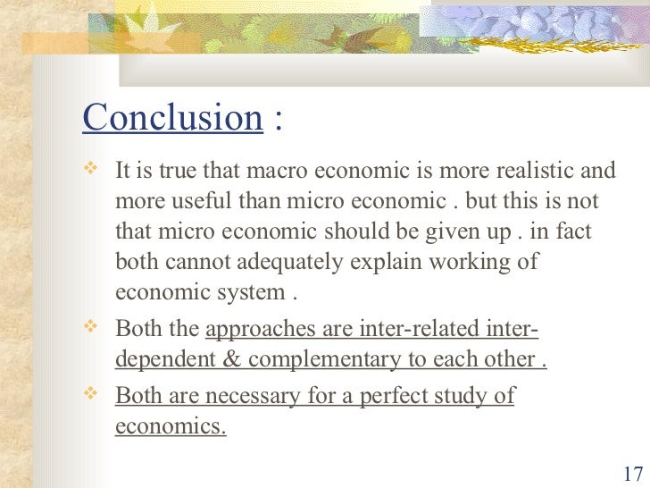 Interdependence between microeconomic and macroeconomic