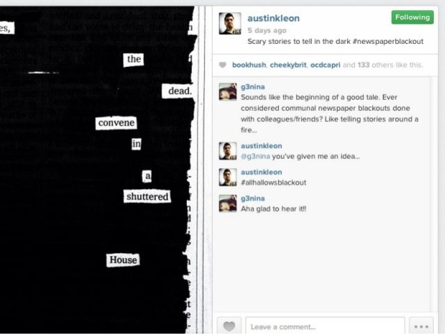 Twitter, Instagram and Micro-Narratives: The benefits of