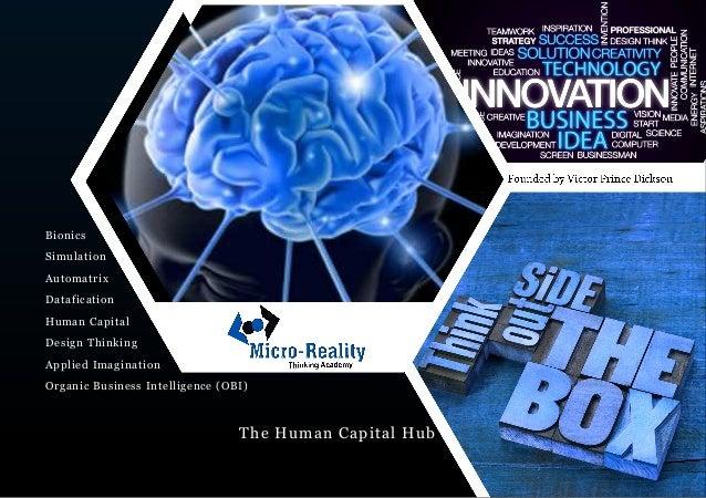 The Human Capital Hub Bionics Simulation Automatrix Datafication Human Capital Design Thinking Applied Imagination Organic...