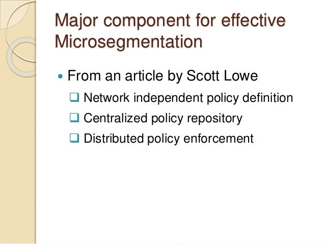 Micro segmentation – a perfect fit for microservices