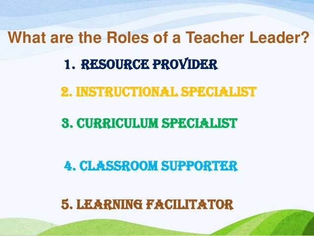 chapter 5 the educator as leader The family day care educator must also notify the approved provider if  name of the educational leader  chapter 5: review, enforcement and compliance.