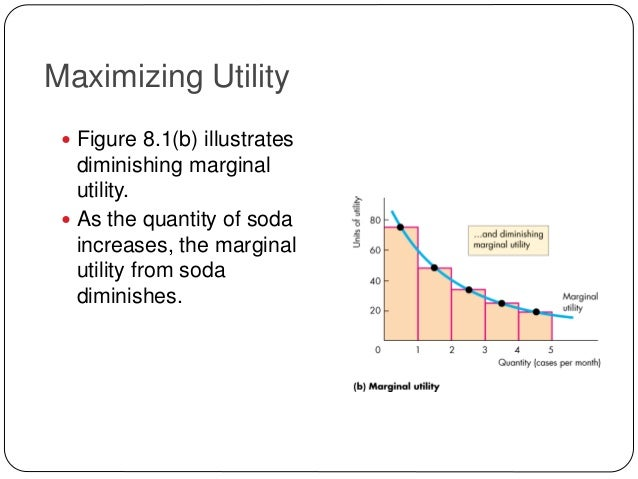 economics and maximization What can we assume about producers wanting to maximize utility for starters, we must assume that they want to maximize utility this lesson.