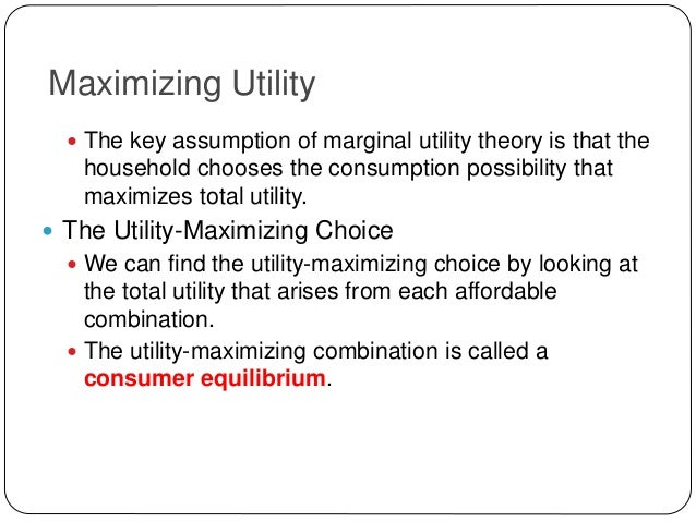 utility maximazation Learning objectives derive an individual demand curve from utility-maximizing adjustments to changes in price derive the market demand curve from the demand curves.