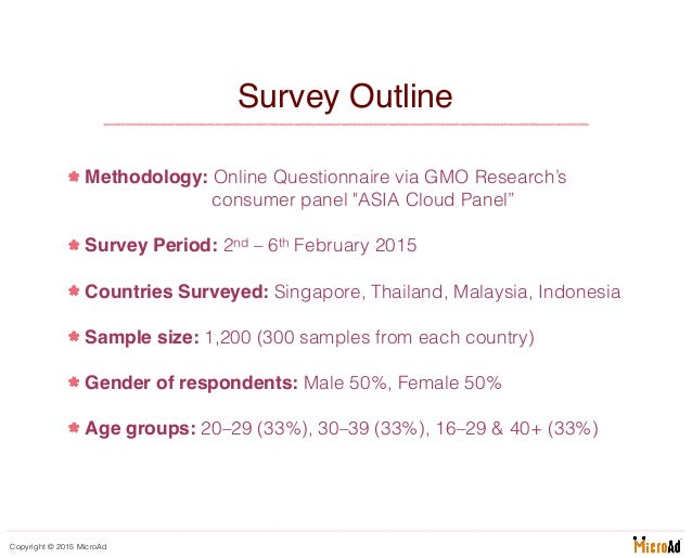 MicroAd - Survey 2015 - Southeast Asians' Perceptions and Appreciation of Cherry Blossoms Slide 2