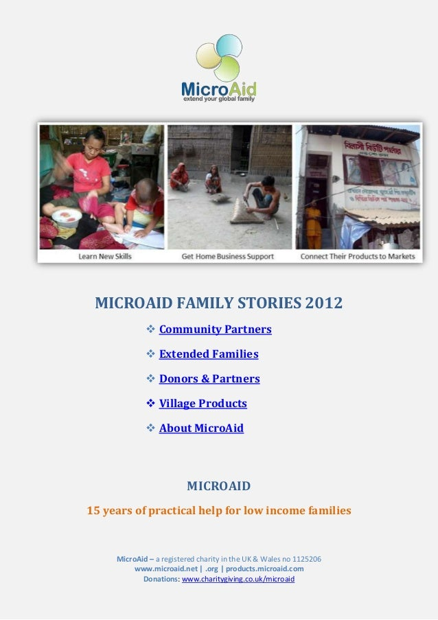 MICROAID FAMILY STORIES 2012              Community Partners              Extended Families              Donors & Partn...