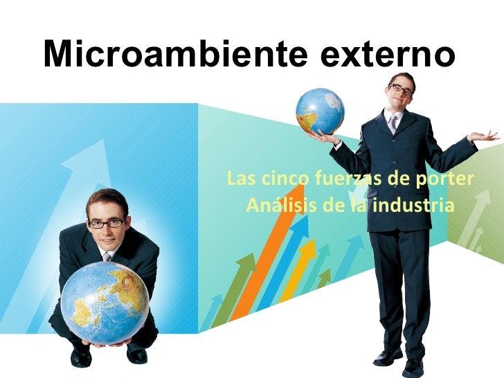 Microambiente externo Las cinco fuerzas de porter Análisis de la industria