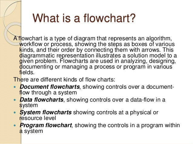 Introduction To Flowcharts, Micro And Macro Flowchart