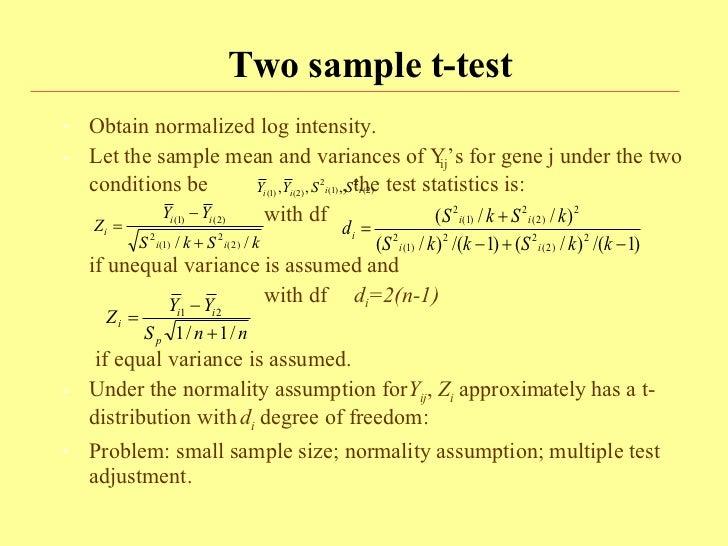 Microarray Statistics