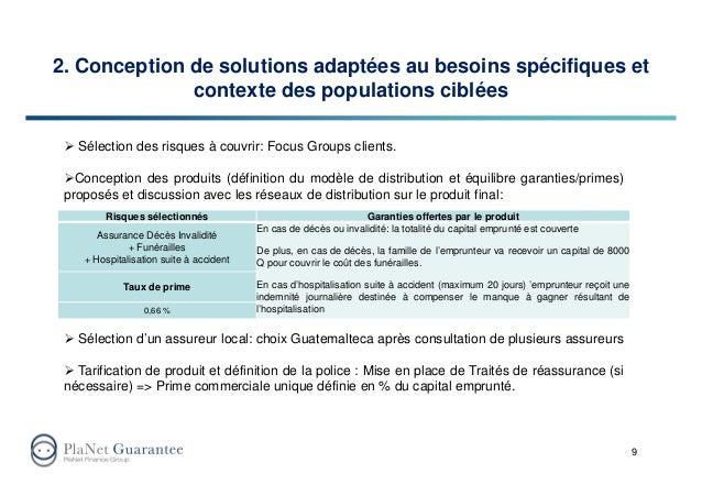2. Conception de solutions adaptées au besoins spécifiques et contexte des populations ciblées 9 Sélection des risques à c...