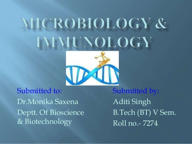 Submitted by:  Aditi Singh  B.Tech (BT) V Sem.  Roll no.- 7274  Submitted to:  Dr.Monika Saxena  Deptt. Of Bioscience  & B...