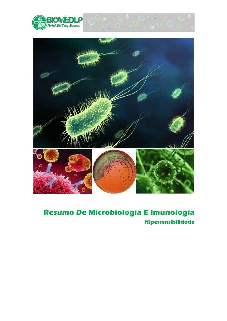 Resumo De Microbiologia E Imunologia                        Hipersensibilidade