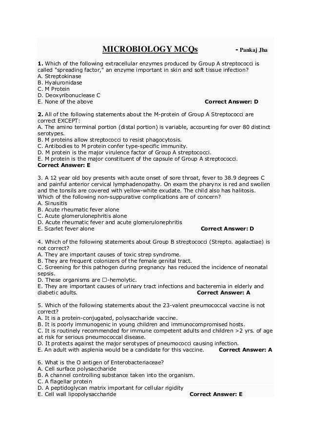 Microbiology case studies questions and answers