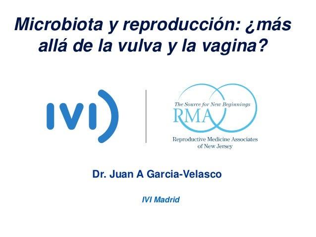 Microbiota y reproducción: ¿más allá de la vulva y la vagina? Dr. Juan A Garcia-Velasco IVI Madrid
