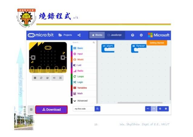 shapethefuture 燒錄程式 1/2 15 Wu, ShyiShiou Dept. of E.E., NKUT