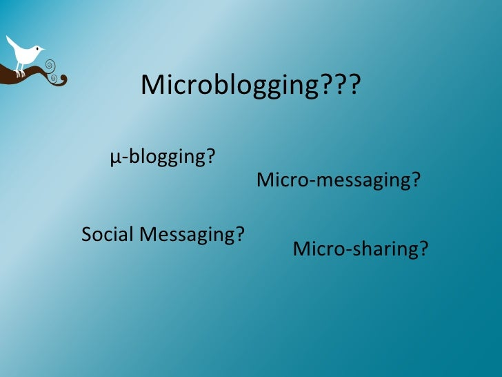 An Overview of Microblogging Slide 3