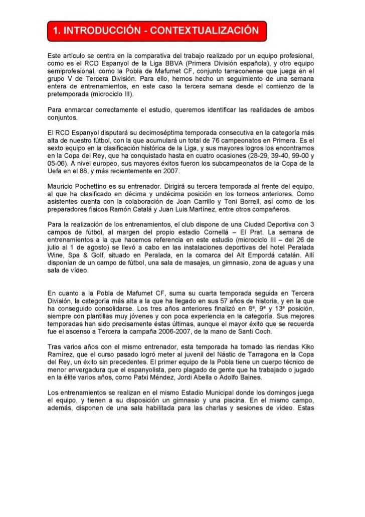 MICROCICLO PRETEMPORADA. R.C.D. ESPAÑOL Slide 3