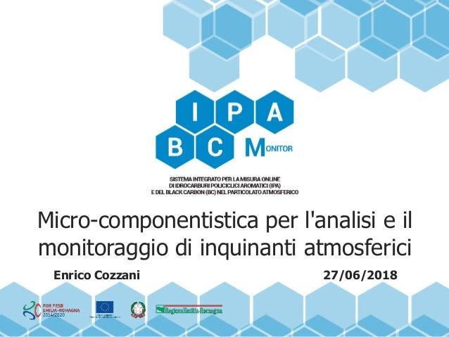 Micro-componentistica per l'analisi e il monitoraggio di inquinanti atmosferici Enrico Cozzani 27/06/2018