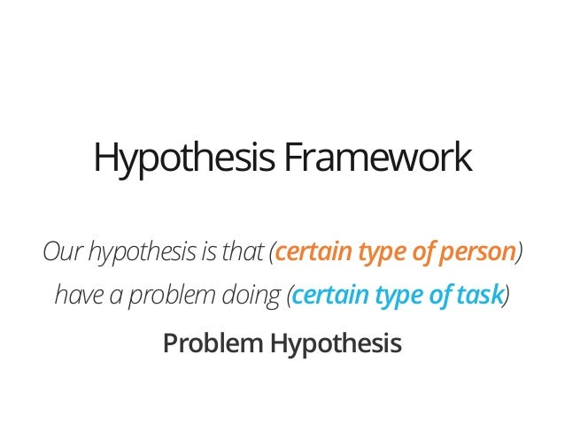 !Our hypothesis is that (certain type of person)have a problem doing (certain type of task)Problem HypothesisHypothesisFra...