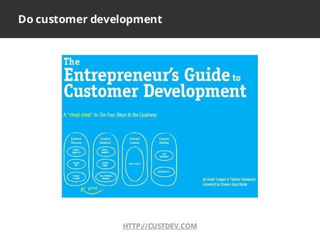 HTTP://CUSTDEV.COMDo customer development