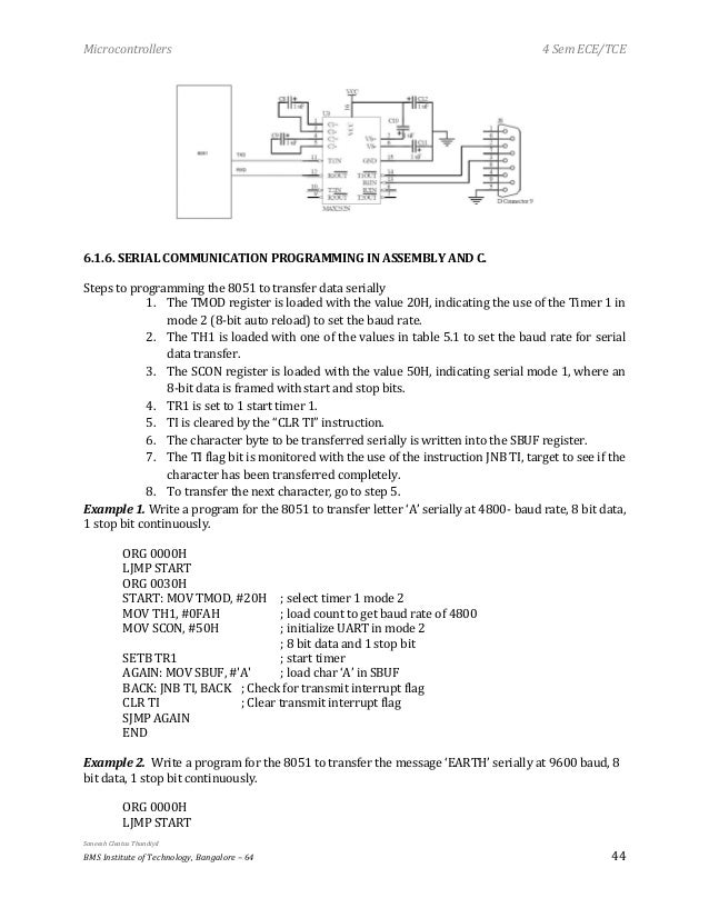 Microcontrollers 8051 MSP430 notes
