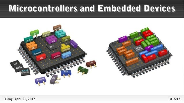 Friday, April 21, 2017 #1/213 Microcontrollers and Embedded DevicesMicrocontrollers and Embedded Devices