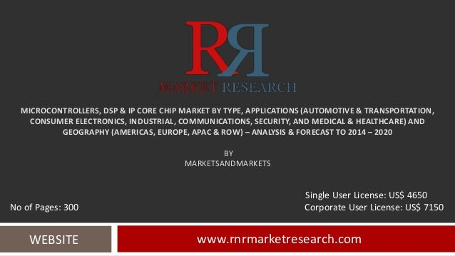 MICROCONTROLLERS, DSP & IP CORE CHIP MARKET BY TYPE, APPLICATIONS (AUTOMOTIVE & TRANSPORTATION, CONSUMER ELECTRONICS, INDU...