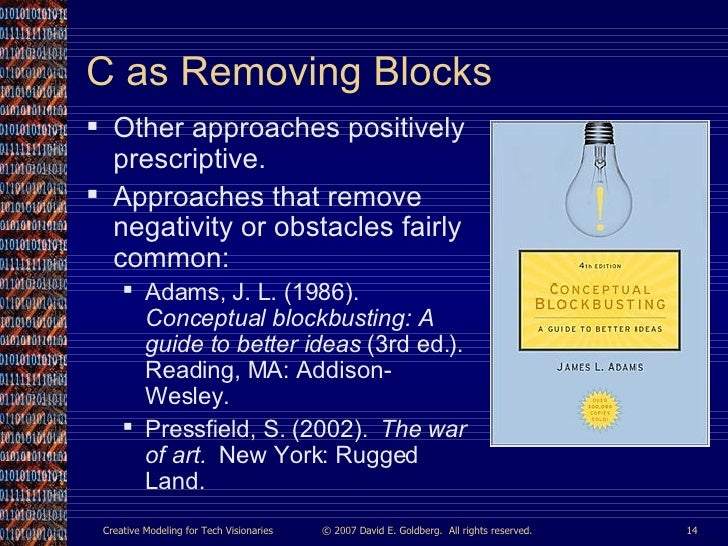 conceptual blockbusting a guide to better ideas