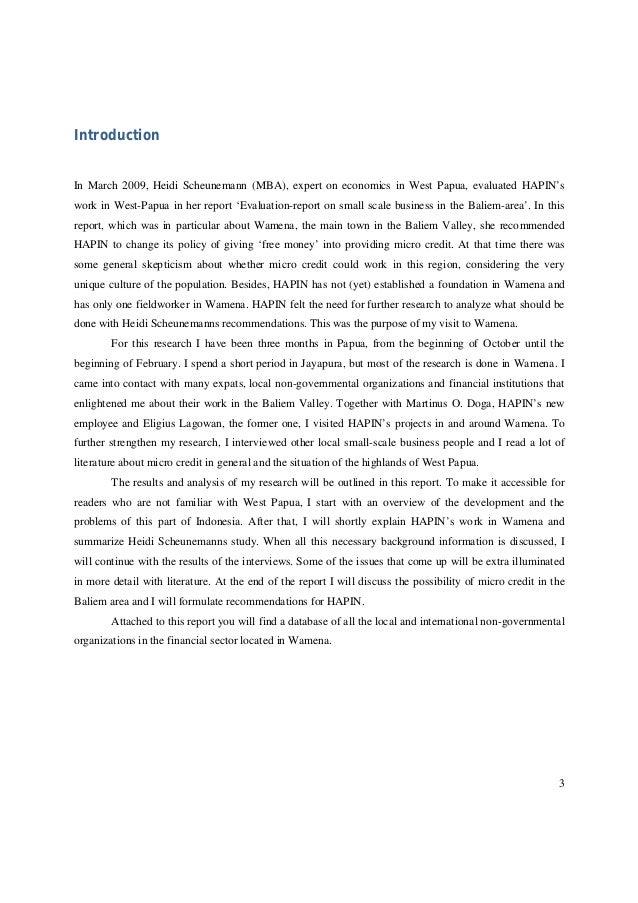 Micro credit in wamena   report by sietske goettsch Slide 3