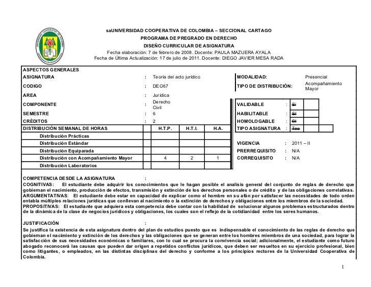 saUNIVERSIDAD COOPERATIVA DE COLOMBIA – SECCIONAL CARTAGO                                                     PROGRAMA DE ...