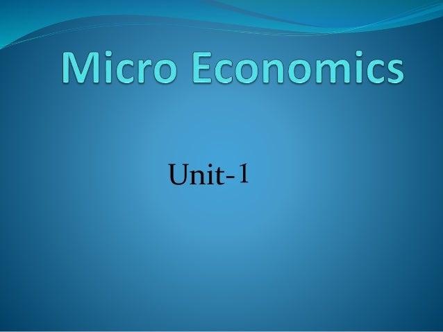 MICRO ECONOMICS-CHAPTER-1
