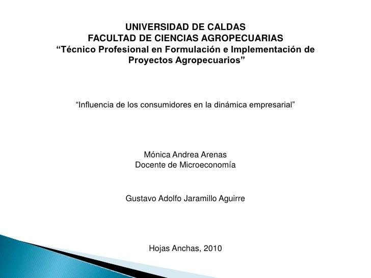 "UNIVERSIDAD DE CALDAS<br />FACULTAD DE CIENCIAS AGROPECUARIAS<br />""Técnico Profesional en Formulación e Implementación de..."