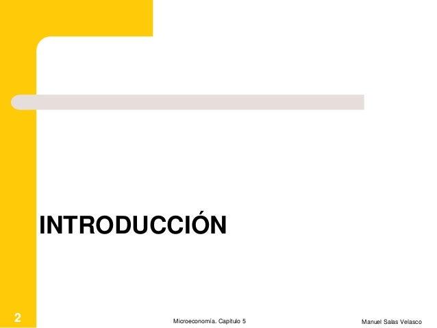 Mcroeconomía Cap. 5 Competencia perfecta Slide 2