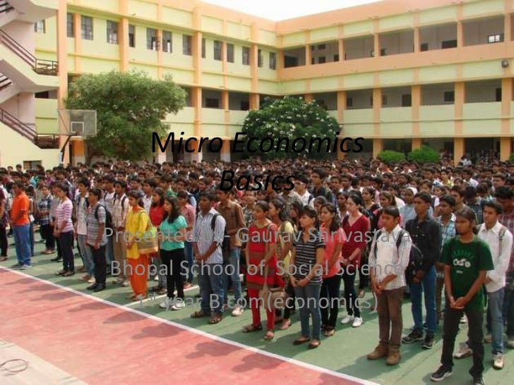 Micro Economics         BasicsPresented by- Gaurav Shrivastava Bhopal School of Social Science   1st year B.com(economics)