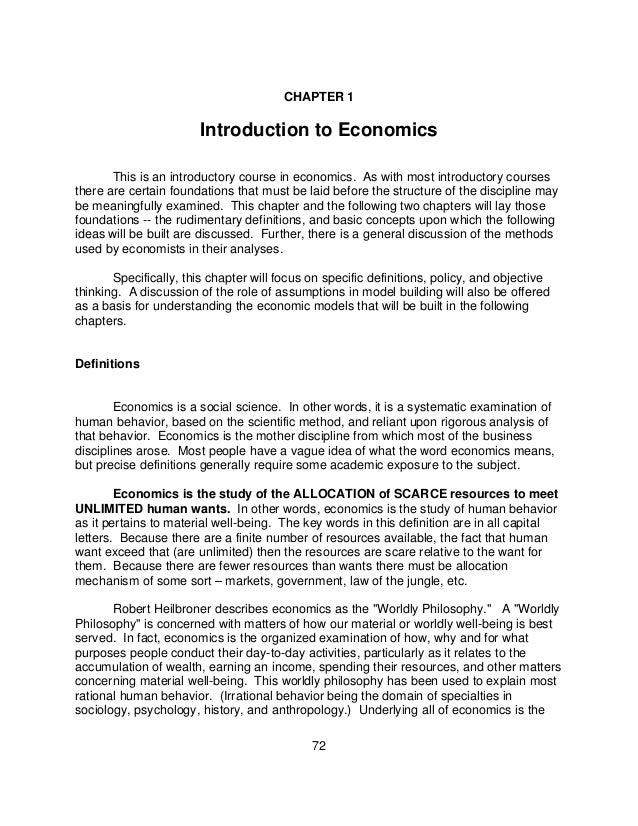 Microeconomics vocabulary