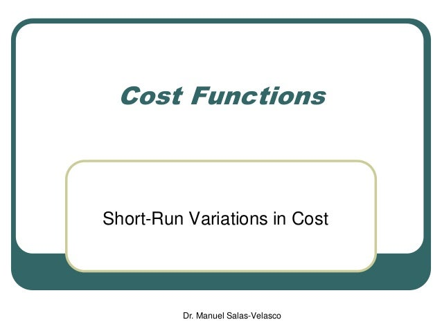 Microeconomics: Cost Functions Slide 2