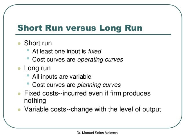 "microeconomics costs Note that ""exit"" is a long-run concept, depending upon (long-run average) total costs in contrast, ""shutdown"" is a short-run concept depending upon (shortrun average) variable costs."