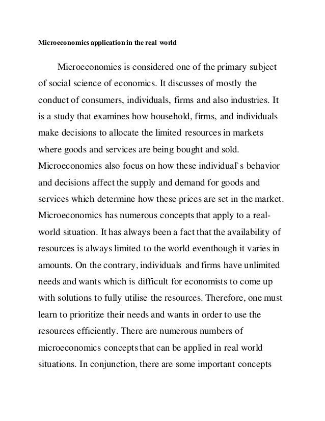 Microeconomics Application In The Real World 1 638gcb1431780124