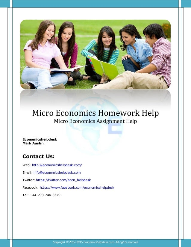 Economics hw help