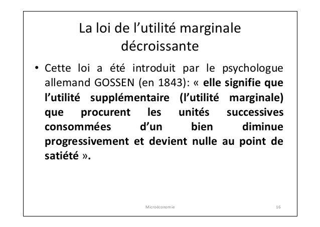 utilite marginale definition