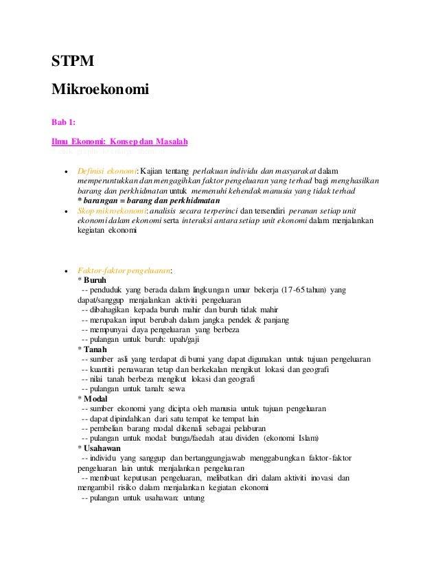 Microekonomi Bab 1 Bab 6