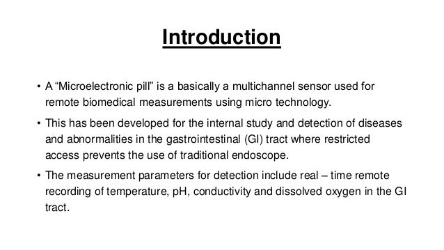 Microelectronic Capsule | Micro Electronic Pill | PPT Slide 2