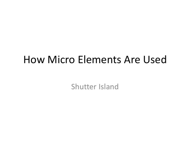How Micro Elements Are Used         Shutter Island