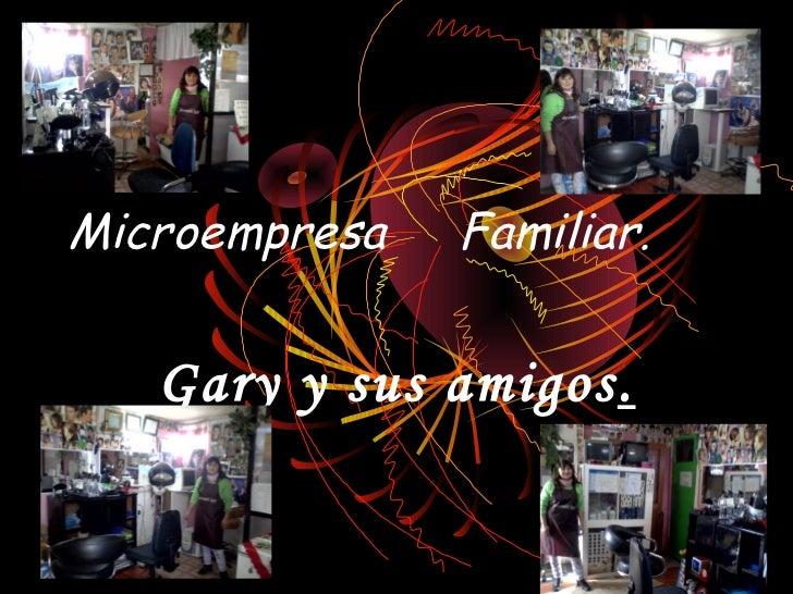 Microempresa   Familiar.   Gary y sus amigos.