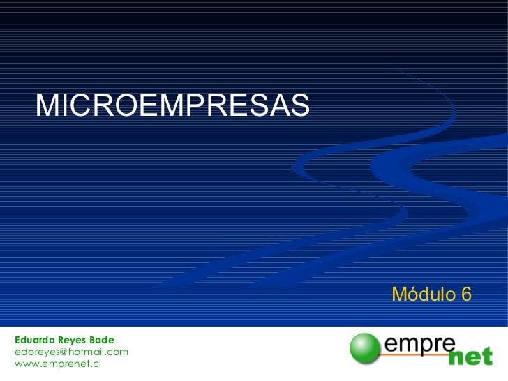 MICROEMPRESAS Módulo 6