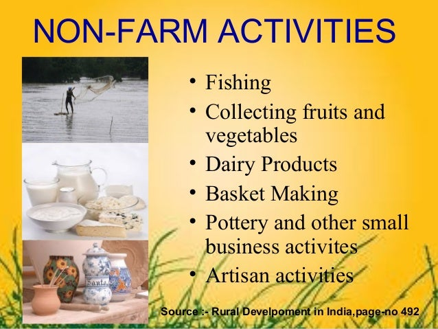 explain the factors essential for expansion of non farming activities in villages