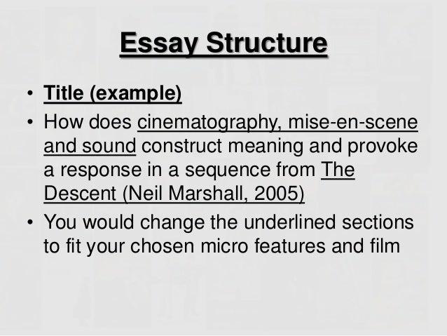 Mise en scene essay